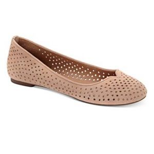 Nude Leather Lucky Flats NWOT